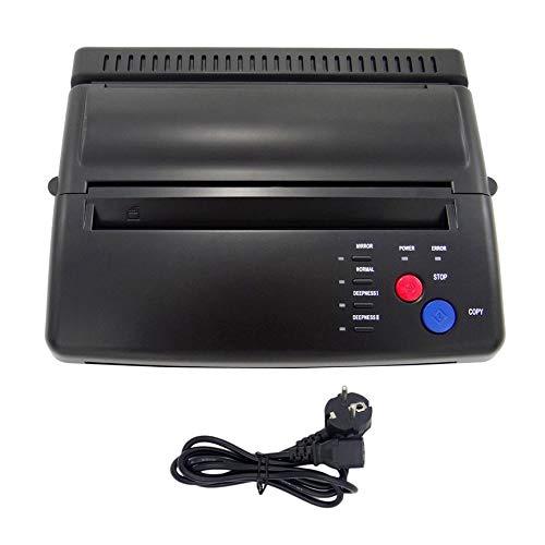 Estilo Profesional Tattoo Stencil Maker Máquina de Transferencia Flash Copiadora térmica Suministros de Impresora Enchufe de la UE - Negro