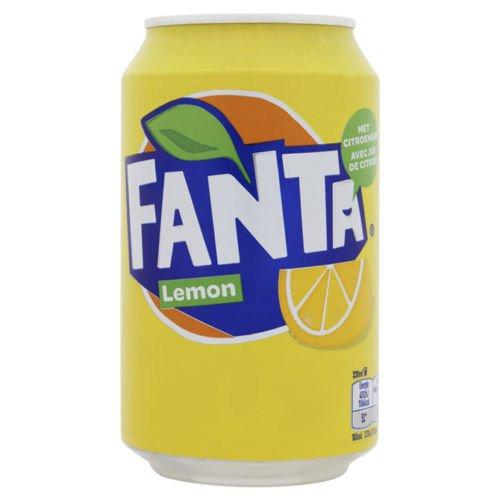 1 x 24 Fanta Lemon (24 x 0,33 L latas) incl. FiveStar bolígrafo gratis