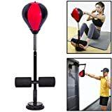 LJF Stress Relieve Desktop/Wall Suction Punching Bag, Speed Punching Bags for Boxing and Kicking Training, Portable Target Easy to Set Up, Height Adjustable