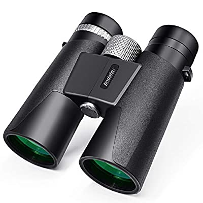 12x42 Binoculars for Adults - HD Low Light Night Vision - Compact Lightweight (1.05lb) - Powerful BAK4 Prism FMC Lens - Waterproof Binoculars for Bird Watching, Hunting, Sports -Phone Adapter Included