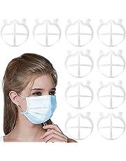 CNSSKJ 10 soportes de cara 3D, soporte de respiración 3D de silicona para cubrir la cara, soporte de respiración reutilizable marco de apoyo interior para una respiración cómoda