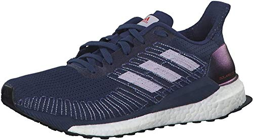 adidas Damen Boost 19 W Laufschuhe, Blau (Indigo TECH/Purple Tint/SOLAR RED), 38 EU