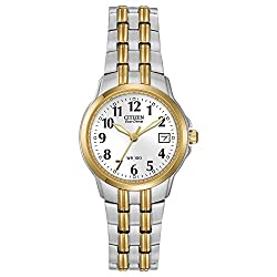Citizen Women's EW1544-53A Eco-Drive Silhouette Sport Two-Tone Watch - see full details