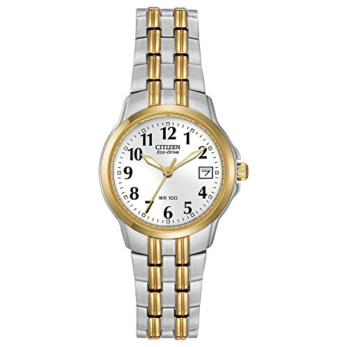 Citizen Eco-Drive Silver- and Gold-Toned Watch for Women, EW1544-53A