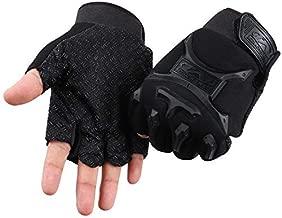 COSMOSLIFE Fingerless Gloves for Kids, Children Fingerless Short Gloves for Cycling MTB Exercise Skate Skateboard Roller Skating