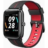 スマートウォッチ5ATM 級防水 日本語対応 iOS/Android適用 Bluetooth 腕時計 歩数計 Line/SMS/着信通知 2年保証 205G