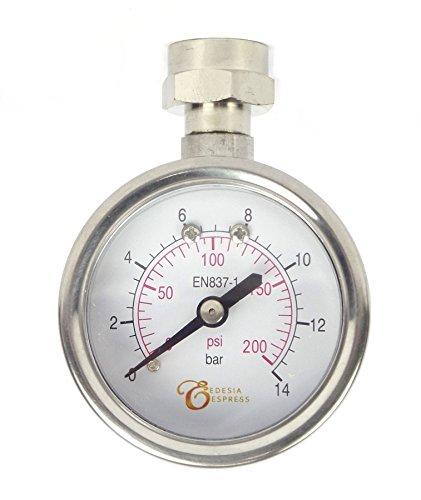EDESIA ESPRESS - Siebträger-Manometer zur Brühdruck-Messung für Espressomaschinen