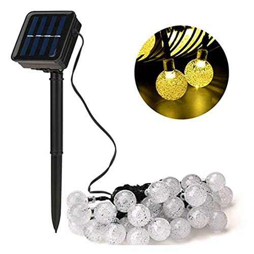 HDHUIXS Luces de cadena solar 100LED al aire libre, 10 m de luces de hadas de 10 m de jardín a prueba de agua a prueba de agua 8 modos Globo Festival decorativo luces para cerca, patio, patio