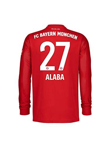FC Bayern München Home-Trikot Langarm Saison 2020/21, Gr. M, David Alaba