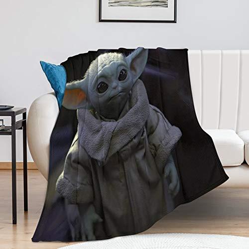 Popular Theme Printed Star Wars The Child Mandalorian Season 2 Kids Baby Yoda Blanket (130x150cm)