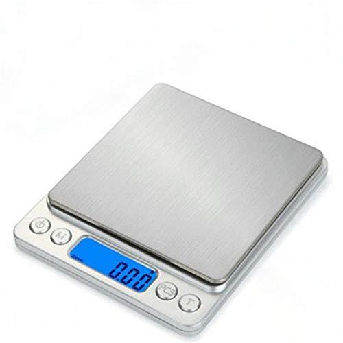 Electronische Waage Küchenwaage Haushalt Wasserdichte Lebensmittelwaage Digitales elektronisches Kaffeewaagen-Messwerkzeug LCD-Waage 3 kg / 0,1 g 5 kg / 1 g-3 kg-0,1 g