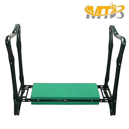 MTB Heavy Duty Folding Garden Kneeler and Seat for Weeding and Portable Garden Stool Seat with Bonus Tool Pouch,EVA Kneeling Pad