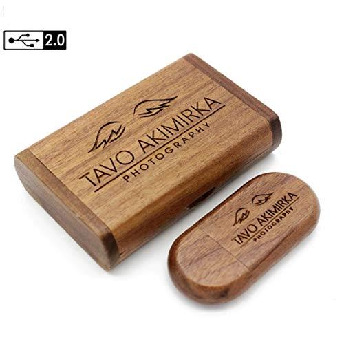 Pendrive de Madeira Personalizado 8 Gb Usb 2.0 com caixa Gravamos sua Logomarca ou Nome.