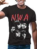 Swag Point Hip Hop T-Shirt - Funny Vintage Street wear Hipster Parody (M, NWA-BLK)