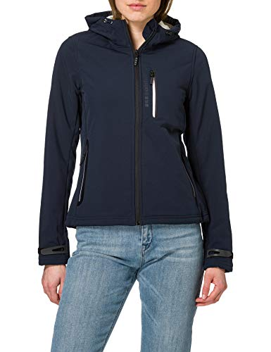 Superdry Womens Arctic Soft Shell Jacket, Eclipse Navy, XL