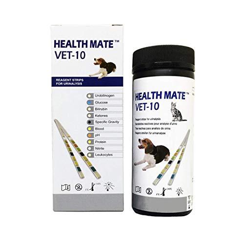 Easy Dog, Cat Pet Health Urine 10 Parameter Test Strips, Pack of 50 Tests