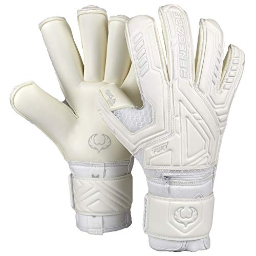 Renegade GK Fury Goalie Gloves (Sizes 7-11, 7 Styles, Level 4) Pro-Tek Fingersaves & 4mm Giga Grip   High Perf. Pro-Level Goalkeeper Glove   Superior Grip, Protection, and Comfort   Based in The USA