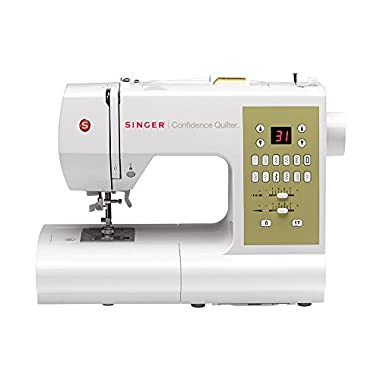 Singer Confidence Quilter 7469Q Computerized Electronic Portable Sewing Machine 98 Builtin Stitches, Easy Threading, Programmable Needle UpDown, 2 STAYBRIGHT LEDs,Best Sewing Machine Quilting