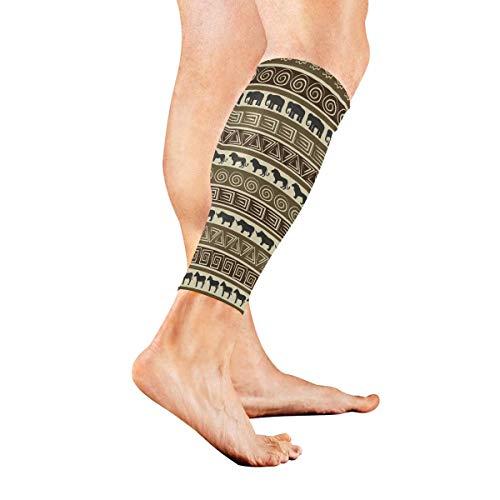 hdyefe Sports Calf Compression Sleeves Afrikanischer Stil Elephant Lion Leg Compression Socks für Männer und Frauen