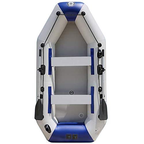 Priority Culture Kayak Hinchable Piragua Hinchable 2 Personas Piragua Inflable con Paleta De Aluminio Adecuado para Salidas Al Mar, Pesca, Costa. Los 270-360cm (Color : Blue, Size : 270 * 140cm)