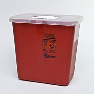 Kendall Sharps Container with Rotor Lid, Covidien 8970, 2 Gallon *Special 2 Pack*