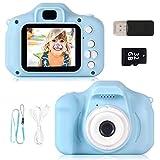 ZStarlite Cámara Digital para Niños, 1080P 2.0' HD Selfie Video Cámara Infantil, Regalos Ideales para Niños Niñas de 3-10 Años, con Tarjeta TF 32 GB, Lector de Tarjetas (Azul)