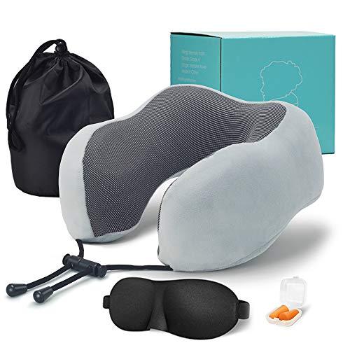 donfhfey827 U-förmiges Nackenkissen, ergonomisches Design, weich und bequem, unterstützt effektiv Kopf und Nacken, universelles, praktisches Reisen, Büro, Schlaf