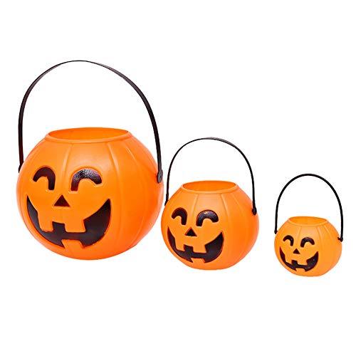 WSJKHY nieuwe Halloween-pompoen-snoepjes-houder-zoete Sonst GiBT'S zure emmer-emmer-feest-decor-houdbare bewaardoos S