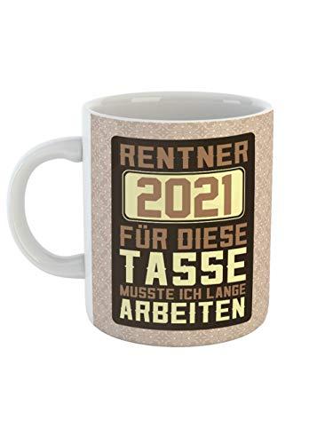 clothinx Ruhestand Rentner 2021 Tasse mit Spruch ideal Für den Renteneintritt, Pension Und Rente