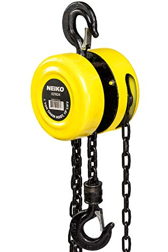 NEIKO 02182A Manual Chain Hoist   1 Ton/2000 Lbs Capacity   15' Lift   2 Hooks   Manual Hand Lift Steel Chain Block