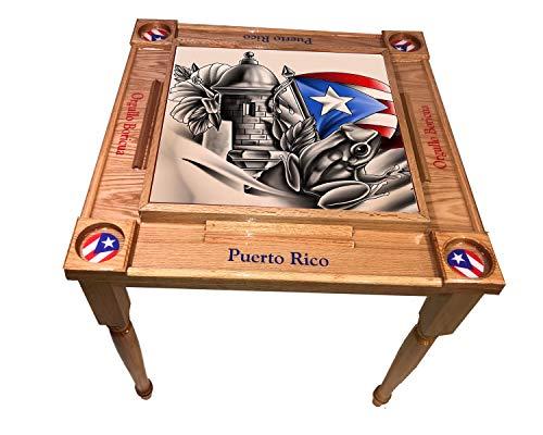 latinos r us MVP Domino Table Puerto Rico Símbolo Boricua