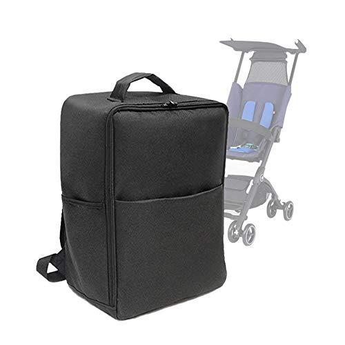 Baby Stroller Accessories Transport Storage Bag for Goodbaby POCKIT Pram Travel Bag Backpack for GB (Black)