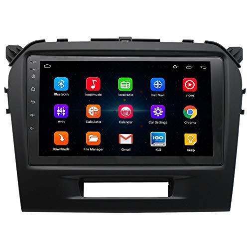 ADMLZQQ Android 10 Autoradio 2 DIN Car Stereo Coche GPS Navegacion para Suzuki Vitara 2014-2018 Compatible con CD de Coche Original/Google Play/Mapa en línea DSP DVR Carplay,WiFi 1+16