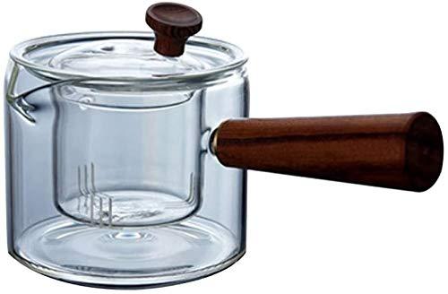 Bouilloire induction Poêle en céramique électrique Bouilloire verre résistant à la chaleur Théière à la vapeur Théière épaissie Tea parfumée Thé à haute température WHLONG (Color : 450ml)