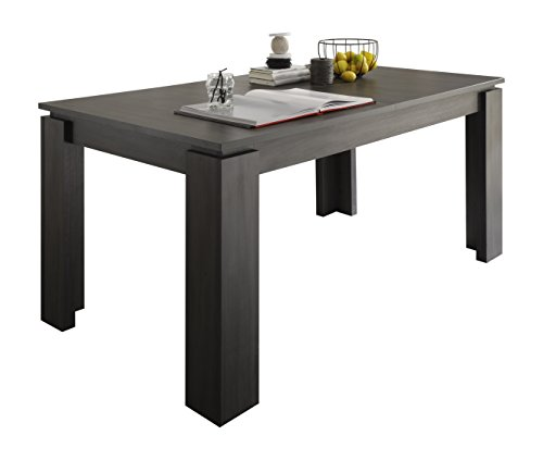 trendteam smart living Esszimmer Küchentisch Esstisch Tisch Universal, 160 x 77 x 90 cm in Esche Grau mit Ausziehfunktion