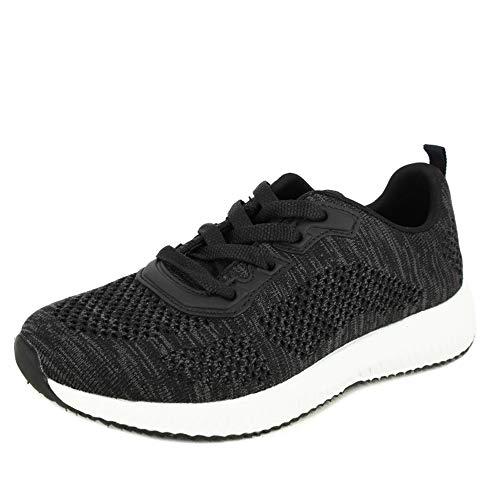 Sportschoenen met veters van het merk DOCTOR CUTILLAS, van stof, zeer aanpasbaar, kleur zwart, piso wit - 13951
