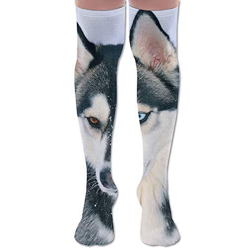 YuanHu Husky-Hund Knee High Compression Socks Modische High Thermal Teen Overknee-Strümpfe