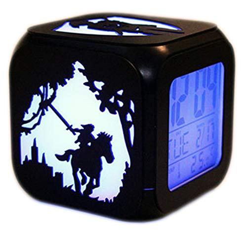 QMMCK Despertador LED Estéreo 3D Zelda Legend Creative Night Light Despertador Electrónico Junto a la Cama - Siete Colores