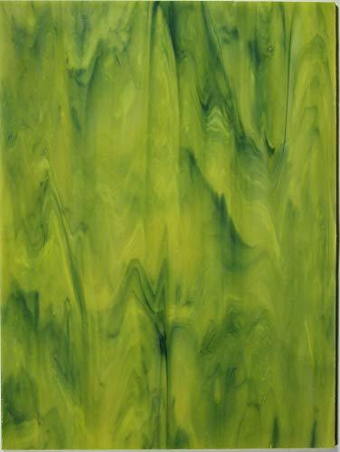 Tiffany Glas Mosaik Platten 15x20cm Moosgrün