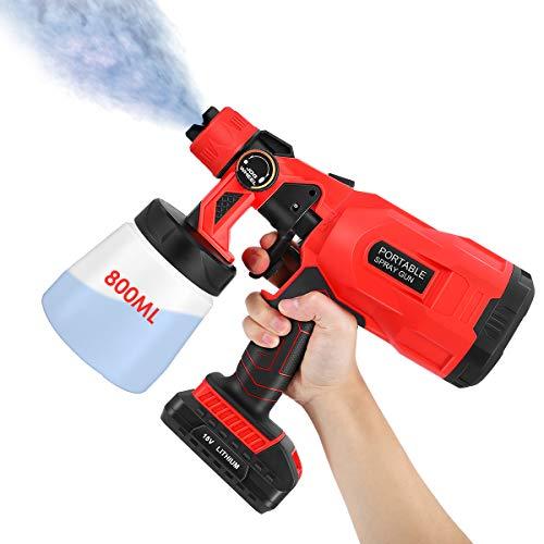 Pistola de pintura eléctrica de 800 ml con 3 modos de pulverización,...