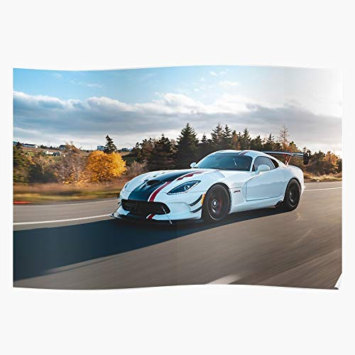 Black Background Model Auto Car Speed Vehicle Viper Home Decor Wall Art Print Poster !