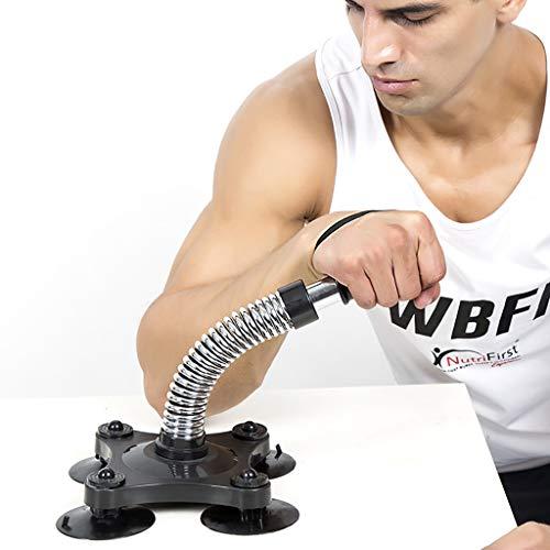 Armdrücken Trainer Exerciser, Robust Unterarm Rutschhemmende Ausrüstung Grip Wrist Blaster Muskelkraft Fitness Für Menschen Fitnessgeräte, Arm Grip Tisch,Silber