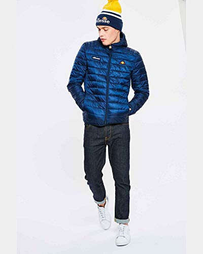 ellesse SHS01115 Lombardy Padded Zip Hooded Navy Jacket S Navy
