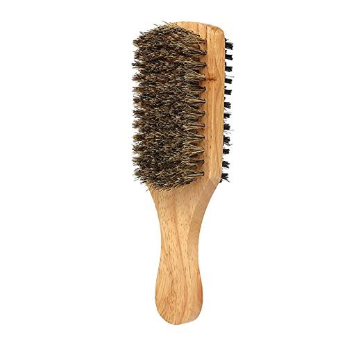 Peine, Manera de madera Hombre Barba Cepillo Hombres Bigote Pinceles Peine Cepillo de cabello facial de doble cara Mensaje de cara Mensaje Herramienta de cepillo de afeitado para la mayoría de los tip
