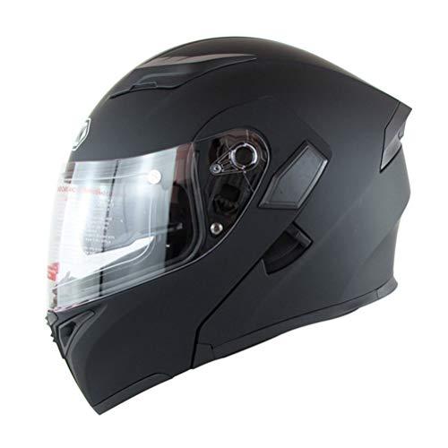 Casco de moto para hombre Viseras dobles Casco de moto de cara completa Carreras de moto Filp Up Cool Casco de moto para hombre Casco
