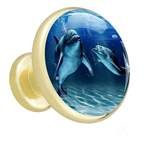 Dolphins Puff El armario maneja perillas gabinetes