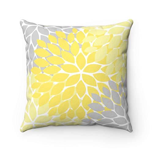 Alicert5II geel grijs kussensloop bloemen kinderkamer decoratief kussen schommelstoel kussen bloem hoofdkussenovertrek accentkussen meisje room decor PIL60