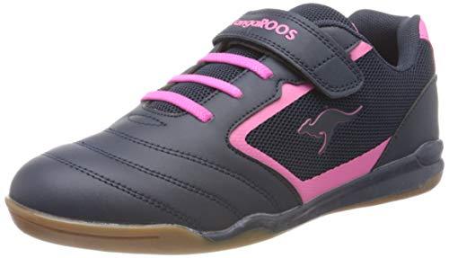 KangaROOS Race Comb EV Unisex-Kinder Sneaker, Blau (Dark Navy/Daisy Pink 4204), 33 EU