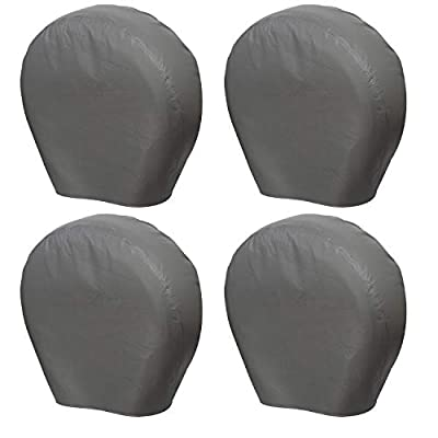 """Moonet Tough Tire Covers for RV Wheel(4 Pack), Heavy Duty Thicken Sun Protectors for Truck Motorhome Boat Trailer Camper Van SUV, for Diameter 40""""-42"""" Charcoal"""