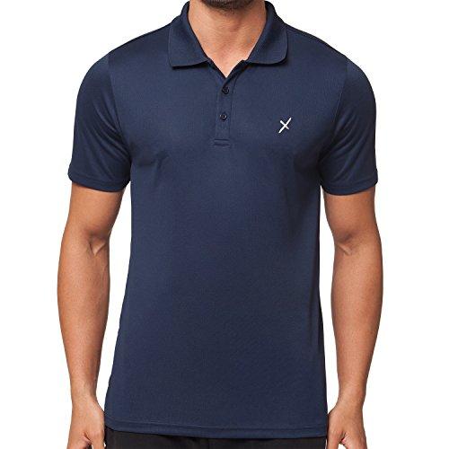CFLEX Herren Sport Shirt Fitness Polo-Shirt Sportswear Collection - Navy XXL